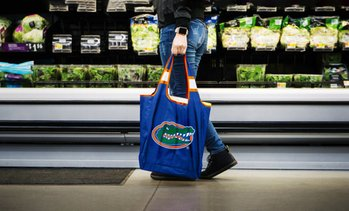 Duckhouse NCAA Reusable Bag with Storage Pouch (2-Pack)