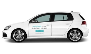Ubeeqo: Première journée de location de voiture en libre-service sur Ubeeqo pour seulement 5€
