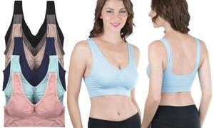 Women's Deep U-Back Seamless Bras (6-Pack)