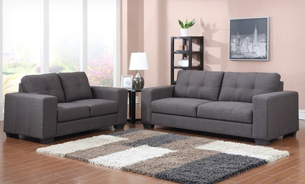 groupon daily deal - Baxton Studio 2-Piece Sofa Sets. Multiple Styles and Colors from $699.99–$999.99.