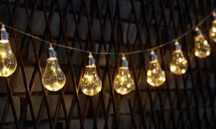 Koord met solar led hanglampen groupon goods