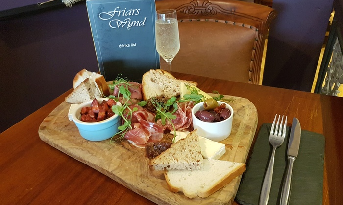 Friars Wynd - Stirling City Centre: Sharing Platter with Optional Prosecco for Two or Four at Friars Wynd