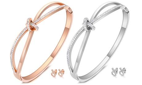 1 o 2 juegos de brazalete y pendientes Orion con cristales de Swarovski®