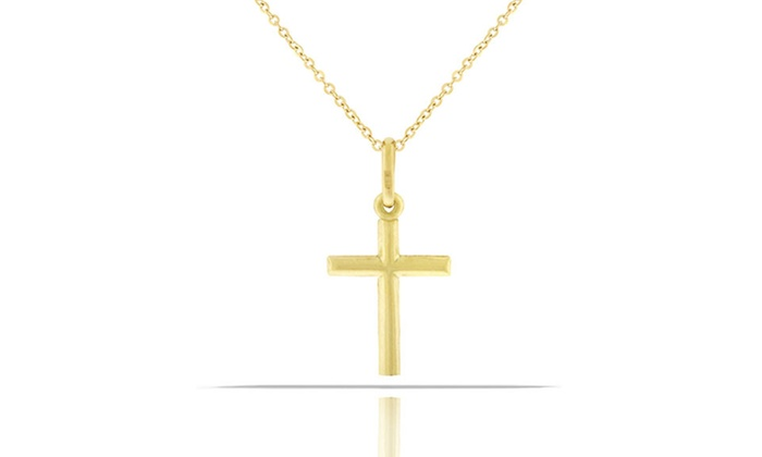 Kids 14k gold cross pendant groupon goods kids 14k solid gold cross pendant kids 14k solid gold cross mozeypictures Image collections