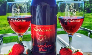 Baldwin Vineyards: Strawberry, Chocolate & Wine Festival Tickets or Wine Tasting for 2 or 4 at Baldwin Vineyards (Up to 58% Off)