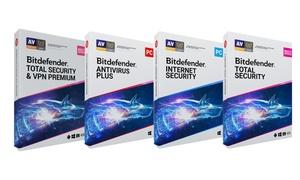 Sélection de logiciels de protection Bitdefender