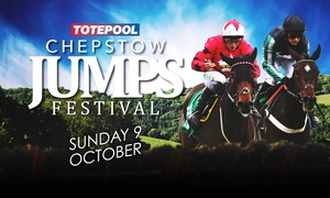 Chepstow racecourse: Jumps Festival on 9 October at 12.15 p.m., Chepstow Racecourse (Up to 25% Off)