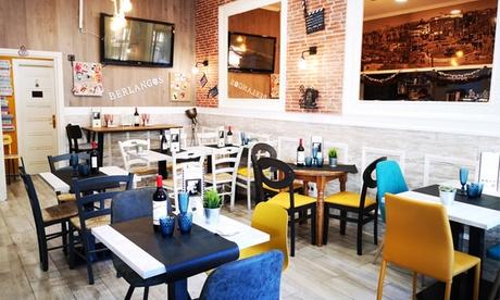 Menú para 2 o 4 personas con entrantes, principal, postre y botella de vino o bebida desde 24,95 € en Berlanga's