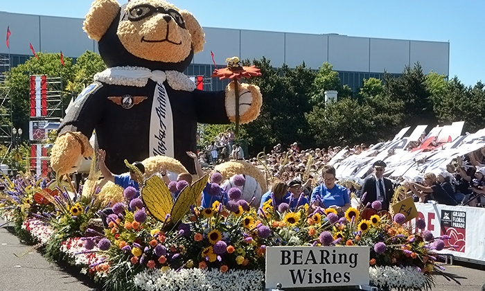 Portland Rose Festival - Portland Memorial Coliseum: Outdoor Bleacher Seat for One at Portland Rose Festival's Grand Floral Parade on Saturday, June 7 (Up to 50% Off)