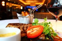 Choice of Two Courses with Wine for Two or Four at Amba Hotel Marble Arch (Up to 48% Off)