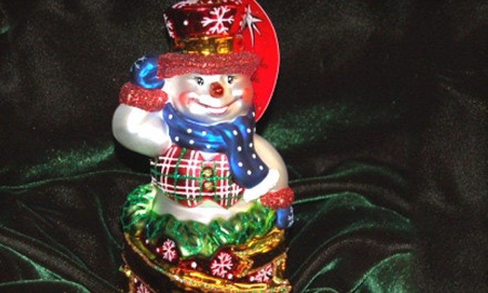 Russell Rhodes Christmas Ornaments: $30 for Radko Snowman Ornament with First-Class Shipping from Russell Rhodes Christmas Ornaments ($64.88 Value)