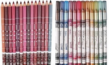 12 matite per il trucco