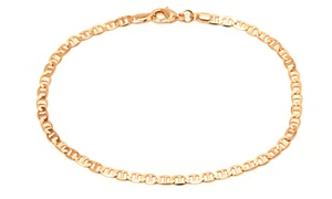 Sevil 18K Gold Filled Flat Marino Anklet