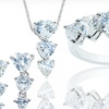 $16.99 for Cubic Zirconia Heart Ring, Earrings, and Pendant Set