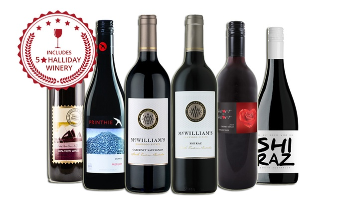 $39 for Six Red Mixed Wines Including Three Bottles from a Five-Star Winery (Don't Pay $119)