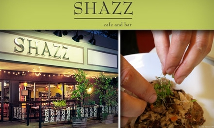 Shazz Cafe and Bar - Berkeley: $15 for $30 Worth of Organic Cuisine at Shazz Cafe and Bar