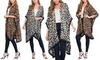 Riah Fashion Women's Lightweight Leopard Print Kimono