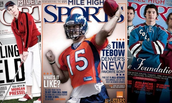 """Mile High Sports"": $6 for a One-Year Subscription to ""Mile High Sports"" ($22.99 Value)"