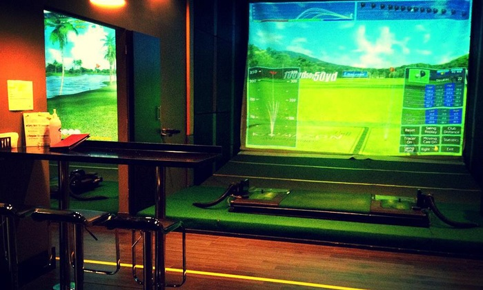 Golf Square - Langley: Virtual Golf Sessions with Burger Meals for Two or Four at Golf Square (Up to 44% Off)