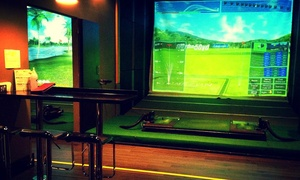 Golf Square: Virtual Golf Sessions with Burger Meals for Two or Four at Golf Square (Up to 44% Off)