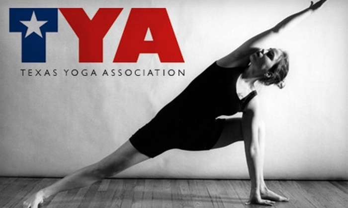 Texas Yoga Association - Multiple Locations: $30 for Five Yoga Classes at 16 Participating Yoga Studios to benefit Texas Yoga Association (Up to $100 Value)