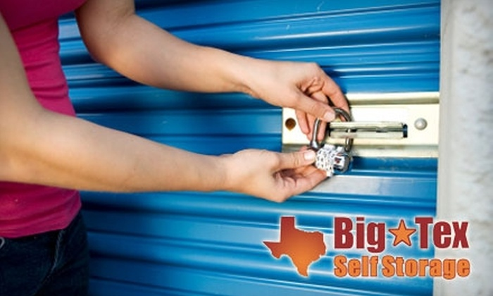 Big Tex Self Storage - Multiple Locations: $99 for Three Months of Climate-Controlled Storage at Big Tex Self Storage (Up to $882 Value)