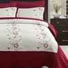 Stitchwork Quilt Set with Traditional Flower Sewing (3-Piece)