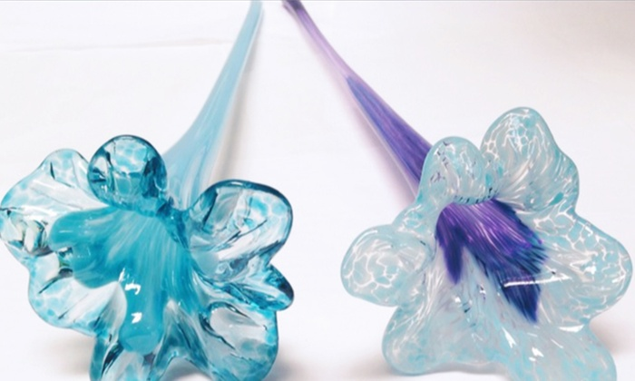 Slow Burn Glass - McClymonds: $39 for a Make-Your-Own Flower Glass-Blowing Workshop at Slow Burn Glass ($100 Value)
