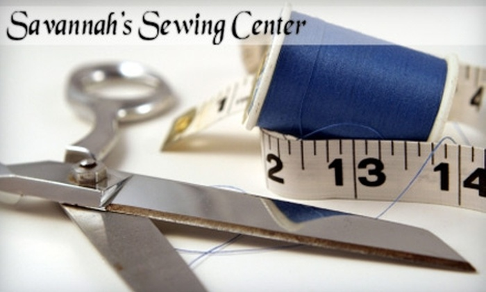 Savannah's Sewing Center Colonial Quilts - Wilshire Estates/Savannah Mall: $45 for Six Hours of Beginner Quilting with Supply Kit ($120 Value) or $12 For a Beginner Sewing Class ($25 Value) at Savannah's Sewing Center Colonial Quilts