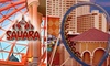 Sahara Hotel and Casino - The Strip: $10 for an Unlimited All-Day Attractions Ride Pass at Sahara Hotel and Casino ($22.95 Value)