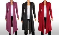GROUPON: Women's Knee Length Hacci Cardigan Women's Knee Length Hacci Cardigan