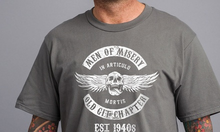 Men of Misery 1940s TShirts in Choice of Colour for £9.98