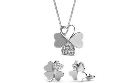 Set de joyería de trebol de la suerte