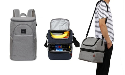Two-Layer Waterproof Thermal Insulated Lunch Bag or 18-Litre Backpack in Choice of Colour: One ($24.95) or Two ($45)