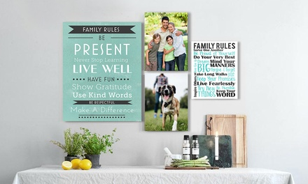 Custom Family Rules Canvas from Simple Canvas Prints (Up to 94% Off). Six Options Available.