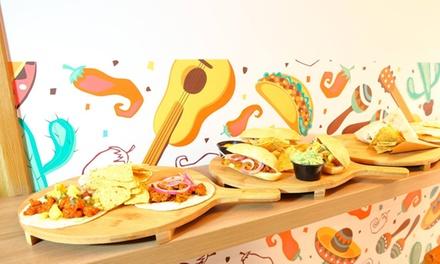 Menú mexicano con burritos, tacos, nachos, coronitas, postres y margaritas desde 14,90 € en La Patrona Valencia