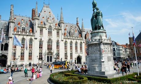 Brujas: habitación doble para 2 personas con desayuno y late check-out en Martin's Brugge