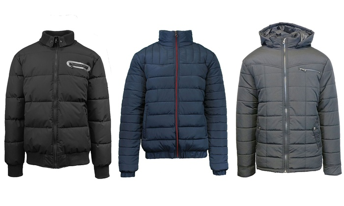 Men's Heavyweight Quilted and Padded Bubble Jackets