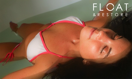 60-Minute Flotation Session: One ($58) or Two Visits ($110) at Float and Restore, Three Locations (Up to $150 Value)