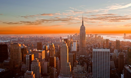 ✈New York: 3, 4 or 5 Nights with Return Flights and Tour at a Choice of Hotels
