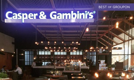 Up to AED 500 Toward the Whole Menu at Casper & Gambini's (Up to 51% Off)