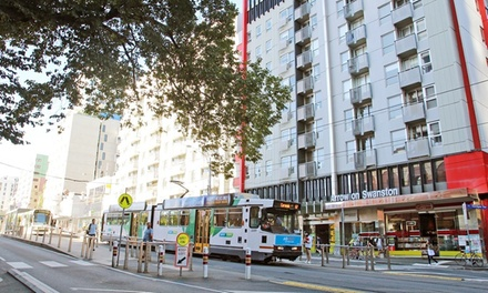 Carlton, VIC: 1 Night for Up to Four People at a Choice of Studios with Wine and Late Check-Out at Arrow on Swanston