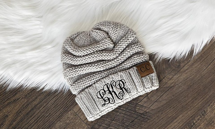7c2d4b69 Up to 80% Off Personalized Embroidered Beanies from Qualtry   Groupon