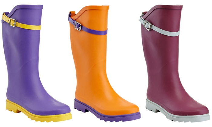 7747ffa0edf Up To 73% Off on Women's Knee-High Rain Boots | Groupon Goods
