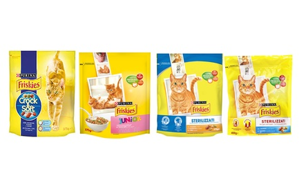 12 pack di cibo per gatti Friskies: Secco junior (pollo-verdure-latte)