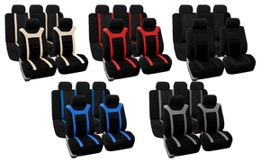 Universal-Fit Airbag-Compatible Car Seat Cover Set (9-Piece)