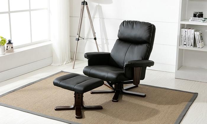 Cozi Recline Swivel Chair Groupon