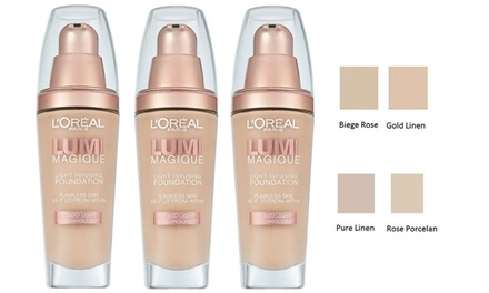 $19.95 for Three L'Oreal Lumi Magique Light Infusing Foundation Bottles Don't Pay $52.23