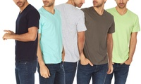 6-Pack Mens Super Soft V-Neck Tees Deals