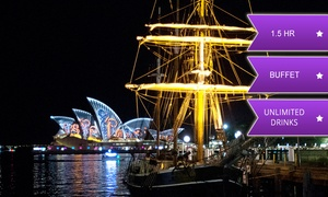 Sydney Harbour Tall Ships: $59 for a Vivid Sydney Harbour Cruise with Drinks and Buffet Package with Sydney Harbour Tall Ships (Up to $79 Value)